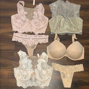 Victoria's Secret 34DD extra small thong set NWT